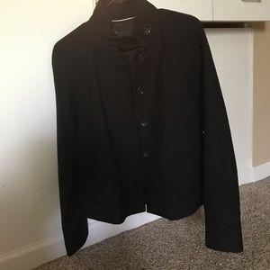 banana republic black pea coat blazer jacket